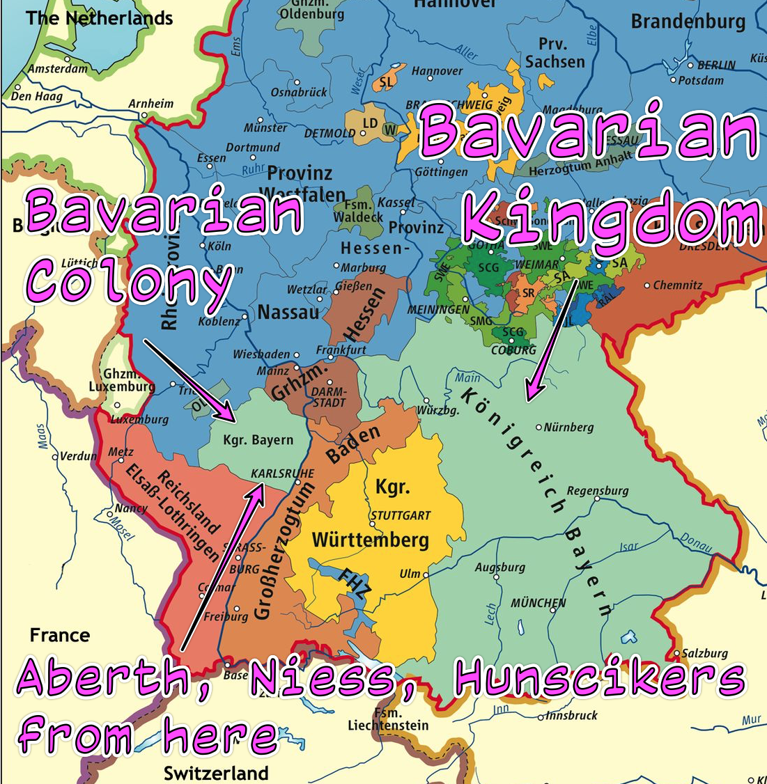 Alsatian Roots – Bavarian Royalty on rhine in germany map, poland in germany map, world war i in germany map, baden-württemberg in germany map, frankfurt in germany map, saxony in germany map, bremen in germany map, munich in germany map, cologne in germany map, hamburg in germany map, black forest in germany map, alps in germany map,